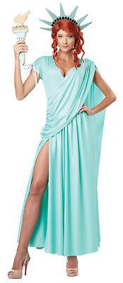 Statue of Liberty Lady Liberty Adult Costume (Womens Statue Of Liberty Costume)