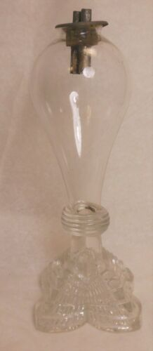 Very Nice Early American Blown & Pressed Glass Whale Oil Lamp
