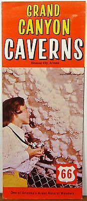 1969 Grand Canyon Caverns Arizona vintage Route 66 travel brochure  b