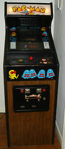 Ms Pacman Arcade Video Game Rare Cabaret Pacman Cabinet