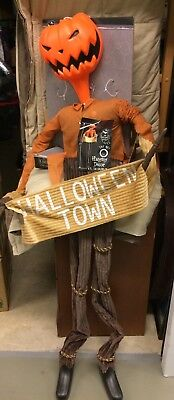 NEW 6' Pumpkin King Jack Skellington Static Halloween Deco LED Musical - Pumpkin King Halloween Prop