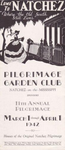 1942 Natchez Pilgrimage Garden Club Natchez Mississippi Brochure
