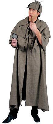 Sherlock Holmes Steampunk Inspector Rousseau Man Adult Costume Theme Halloween