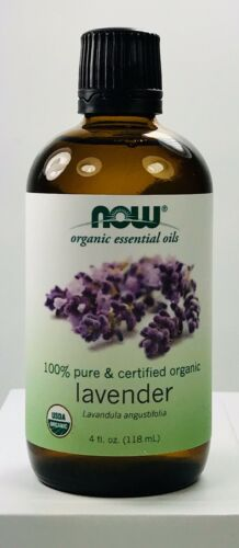 Now Solutions Organic Lavender Essential Oil, 4-Ounce