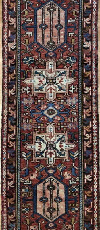 Terrific Tribal - 1930s Antique Oriental Runner - Nomadic Rug - 1.10 X 10.9 Ft
