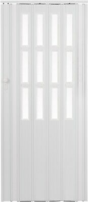 Folding Door PVC Internal Doors Sliding Panel Bi Divider Utility Indoor White for sale  Cambridge