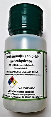 Lanthanumiii Chloride Heptahydrate 99.999 Trace Metal 30g