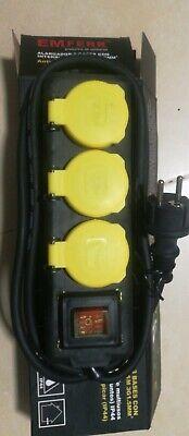 EMferr Alargador 3 Bases Con Interruptor 1.5M Ip 44