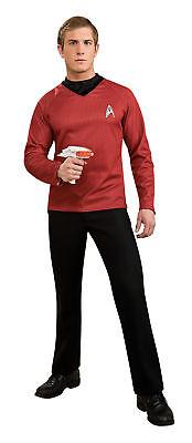 Star Trek-Film Luxus Erwachsene Herren-Kostüm Bedruckt Rotes T-Shirt (Star Trek Film Kostüme)
