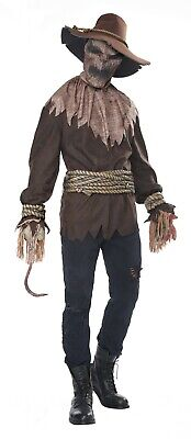 Killer in the Cornfield Horror Scarecrow Adult Men - Mens Scarecrow Costume