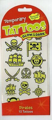 Glow in the Dark Temporary Tattoos for Kids - Pirates - Peaceable Kingdom ](Glow In The Dark Tattoos For Kids)