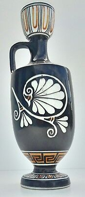 Greece Reproduction Vase Painted About 500 B.C. With Handle Hand Made