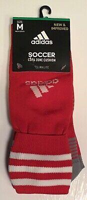 Adidas over-the-calf soccer socks WHITE BLUE mens 5-8.5 M me