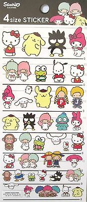Sanrio License Sanrio Characters (Hello Kitty) 4 Size Sticker Sheet~KAWAII!!!