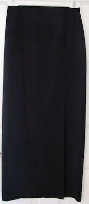 WOMENS MEXX BLACK LONG SKIRT side slit Size 2 Small or petite
