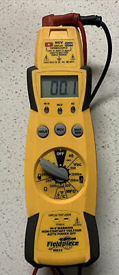 Fieldpiece Hs33 Expandable Manual Ranging Multimeter With Leads Volt Meter Hvac