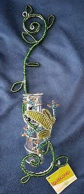 (Frog Bud Vase * Beadworx by Grass Roots Creations * New with Tags)