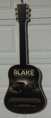Blake Shelton ASMA Guitar Nisssan Dealer Ad Display Spinning Banner