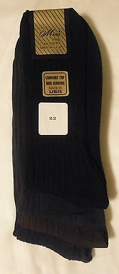 Non Binding Comfort Top 100% Cotton Dress Socks 3-6 Pairs Made in USA Free Ship! Non Cotton Socks