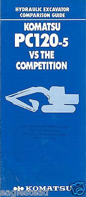 Equipment Brochure - Komatsu - Pc120-5 Excavator Vs Competition E2900 - S
