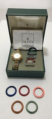 Vintage Original Boxed Set + Accessories GUCCI Timepiece Collection Swiss Made