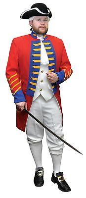 British Revolution American Officer Adult Men's Costume Red Gabardine Tail Coat](Costume British)