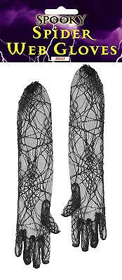 SPIDER WEB LONG GLOVES FOR HALLOWEEN FANCY DRESS.