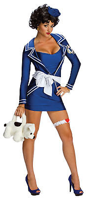 Betty Boop Costume Sexy Pin Up Sailor Girl Adult Halloween Fancy Dress XS, S, M  - Betty Boop Costume