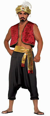Men's Black Genie Pants Aladdin Desert Prince Costume Accessory Size - Aladdin Costumes For Men