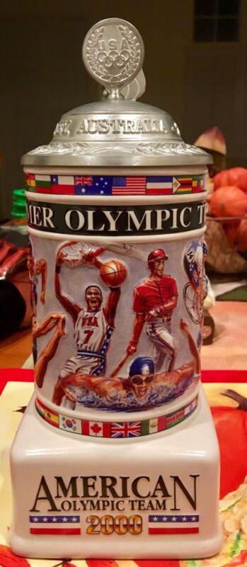 Anheuser-Bush Stein, 2000 American Olympic Team, Sidney, Australia #05530 CS460
