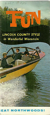 Vintage Brochure for Lincoln County Wisconsin Tomahwak Merrill Clear Lake