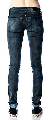 KILL CITY LIP SERVICE VEGAN SUEDE WAX PU COATED LEATHER LOOK SKINNY PANTS JEANS Clothing, Shoes & Accessories