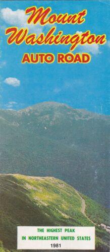 1981 Mount Washington Auto Road New Hampshire Brochure