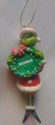 Dr Seuss Wreath (Dr. Seuss Whooville The Grinch Santa Suit Wreath Christmas Ornament Kurt Adler)