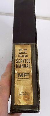 Massey Ferguson Mf40 Mf 40 Tractor Loader Backhoe Service Repair Manual 1448 979