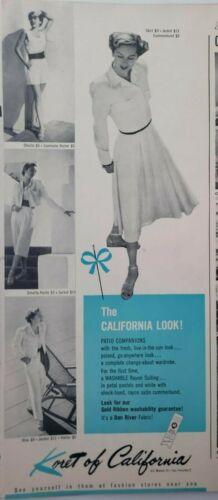 Lot Vintage 1948 Clothing Print Ads Wall Art Decor Ephemera Kingsley Koret Reid