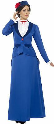 Florien Viktorianische Nanny Damenkostüm NEU - Damen Karneval Fasching - Viktorianische Dame Kostüm
