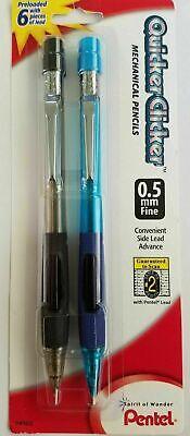 2 Pentel Quicker Clicker Mechanical Pencils 0.5mm Lead - Sale