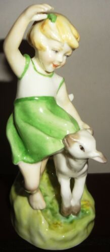 1982 ROYAL WORCESTER - by F. G. DOUGHTY figurine- SPRINGTIME -LITTLE GIRL & LAMB