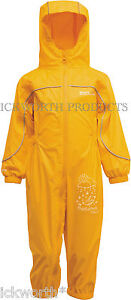 REGATTA PUDDLE III ALL IN ONE WATERPROOF SUIT CHILDRENS KIDS CHILDS BOYS GIRLS