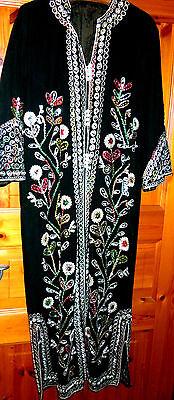 Arabischer Prunkmantel  Gr. M (40) grüner Samt prächtiger reicher - Arabische Kostüm Schmuck