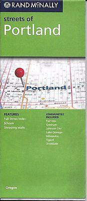 Street Map of Portland, Oregon, by Rand McNally