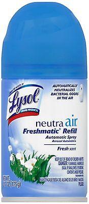 Lysol Neutra Air Freshmatic Spray Air Freshener, Fresh, 1 Refill, 6.17 oz 4pk