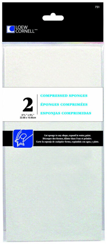 Loew Cornell Compressed Sponges Custom Shapes For Painting 731