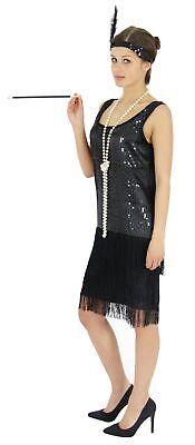 20er Jahre Damen Kleid Charleston Kostüm Mafia 20s - 20 S Flapper Kostüm
