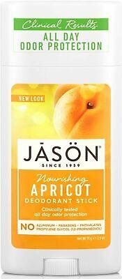 JASON Nutritivo Albaricoque Desodorante en Barra 71g- No Aluminio, Parabenos,