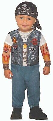 Forum Novelties Wild Child Tattooed Biker Toddler Infant Halloween Costume 81934 - Wild Child Halloween Costume