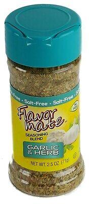 FLAVOR MATE® GARLIC & HERB SALT FREE SEASONING BLEND Spices Herbs NO MSG kosher Herb Salt Free Seasoning