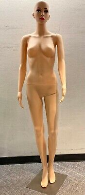 Full Body Female Mannequin Form With Base - Plastic Full Body Dress Form