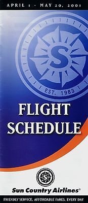 Sun Country Timetable  April 1  2001